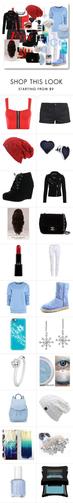 """""""My contest"""" by megraciegurl ❤ liked on Polyvore featuring WearAll, TWINTIP, BillyTheTree, Charlotte Russe, Superdry, WigYouUp, Chanel, Giorgio Armani, By Sun and UGG Australia"""