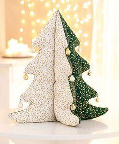 Sapin de Noël en tissu patchwork