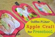 Mamas Like Me: Coffee Filter #Apples #preschool