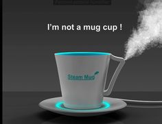 STEAM MUG, used for personal humidifier with USB plug in! Let the fall begin!