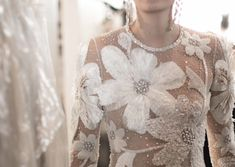 Breathtaking Bridal Collection: Naeem Khan - Oh-- this will simply make you swoon. A dreamy bridal collection from Naeem Khan, each gown and detail more beautiful than the next. Bridal Outfits, Bridal Dresses, Wedding Gowns, Flapper Dresses, Bridal Lace, Bridal Style, Naeem Khan Bridal, Embellished Jumpsuit, Sheer Gown