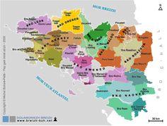 Map Of Les Pays Bretons Carte Bretagne Visiter La Rennes