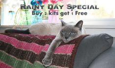 Дождливый день Специальный - 2 Купить Комплекты получите 1 бесплатный комплект - пенни ковер вышивка наборы, шерсть чувствовал аппликация