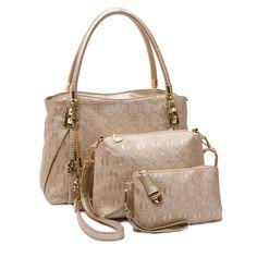 Modern Handbag Set in Gold (3pc-set), 23% discount @ PatPat Mom Baby Shopping App