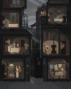 Pixel Art,Пиксель Арт, Пиксель-Арт,8 bit,дом,Octavi Navarro