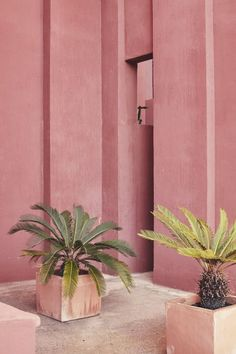 Marysia pink - Ricardo Bofill's La Mural Roja from Vogue