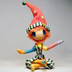 Santas Little Christmas ELF Holiday Friend ooak by WistfulFaerie