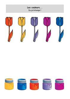 Image du Blog nounoulolo88.centerblog.net Color Worksheets For Preschool, Nursery Worksheets, Color Activities, Preschool Classroom, Toddler Activities, Kindergarten, Early Education, Kids Education, Logic Games For Kids