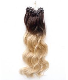 Ombre Color Micro Loop Human Hair Extensions #4/613 18-24inch 1g/Strand 100g/pack Two Tone Micro Ring Human Hair Extension