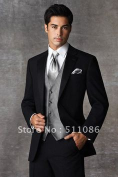 New Men WeddingProm Clothing Groom Tuxedos Bridegroom Suit