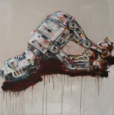 """""""Still life with AT-AT"""" Seabastion Toast x Still Life, Hiking Boots, Combat Boots, Plush, Paintings, Paint, Painting Art, Painting, Painted Canvas"""