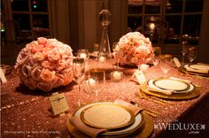 Gold + Pink: Hues to use for wedding  Style File: All That Glitters | WedLuxe Magazine