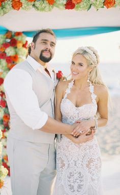 On July 30, 2016, Miroslav Barnyashev (WWE Superstar Alexander Rusev) married girlfriend CJ Perry (WWE Diva Lana) on the beach in Mailbu, CA. They had a unique circus themed reception. The couple announced their engagement on social media in October 2015. They will have a second wedding ceremony in his native Bulgaria later this year. #WWE #Weddings