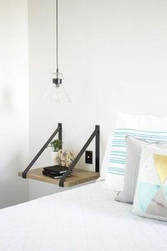 Relooking et décoration 2017 / 2018 idées pour un éclairage ingénieux dans une petite chambre à coucher table