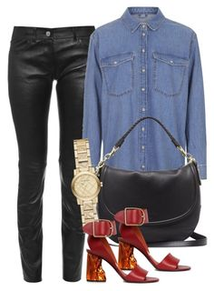 """""""Untitled #2562"""" by erinforde ❤ liked on Polyvore featuring Balenciaga, Topshop, Mulberry, Acne Studios and Burberry"""