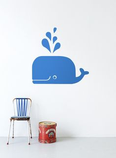 Blue Whale wallsticker.