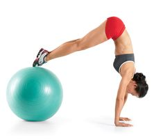 Don't let that big ball collect dust! Its unstable surface offers a superior workout that'll tighten up your core and tone you all over in less time than traditional strength-training moves. | Fitbie.com