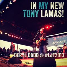 In my new Tony Lamas! #Deryl Dodd at #LJT2013 with #TTX