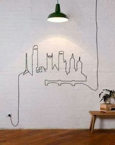 Who says you have to hide cables? Creativity is the key.