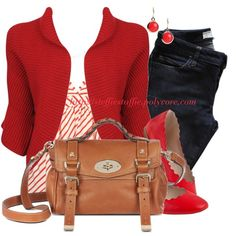 Red, Camel & Stripes by steffiestaffie on Polyvore featuring polyvore, fashion, style, Forever 21, Vanessa Bruno Athé, Chloé, Mulberry and Anne Klein
