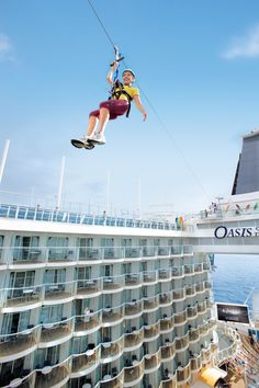 Royal Caribbean Cruise Line - Zipline on the Oasis of the Seas  Cruising on that ship in May 2014  Can't wait!!!!