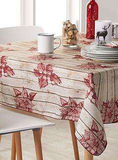 Foliage on wood tablecloth   Simons