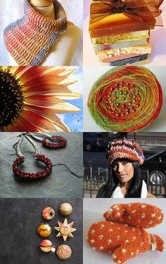 October Transition Etsy Treasury featuring KnittingGuru Glamorous Knit Cowl Capelet.