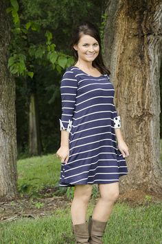 Oakleigh Rose - Feelin' (Navy) Blue Dress, $33.00 (http://www.oakleighrosestyle.com/feelin-navy-blue-dress/)