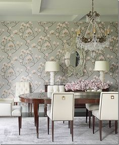 "Cole and Sons ""Magnolia"" wallpaper - design by Katie Stassi Scott"