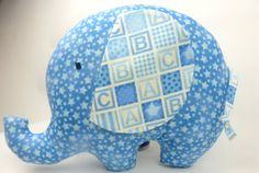Handmade elephant soft toy handmade elephant plush by FreyStitch, £15.00