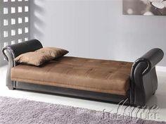 Kela Chocolate Espresso Microfiber PU Adjustable Sofa