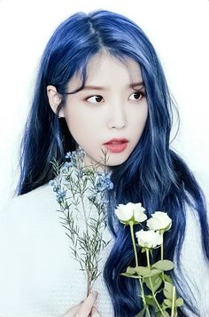 Korean Girl, Asian Girl, Iu Hair, Angelababy, Iu Fashion, Korean Actresses, Korean Celebrities, Anime Art Girl, Purple Hair