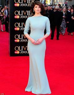 Gemma Arteron in Prada. Amazing pale blue gown.