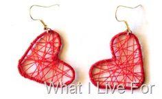Heart Earrings from a Paper Clip
