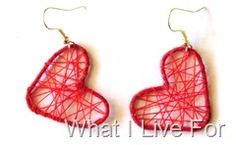 Heart Earrings with a paper clip