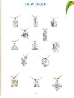 . Pendant Design, Pendant Set, Cross Pendant, Jewellery Sketches, Men's Jewellery, Designer Jewellery, Jewellery Designs, Necklace Drawing, Art Nouveau Tiles