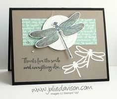 At On Stage in November, Shelli Gardner shared some projects using the Dragonfly Dreams bundle. I was inspired by one of her cards when I created this card for my stamp club this week. It's hard to t