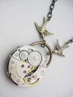 Steampunk jewelry is awesome; all I need to do is glue gears together in an artsy way.