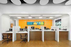 Image result for bank teller desk