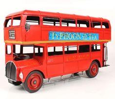Handmade Antique Model Kit Car-1905 London Double Decker Bus