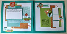 scrappinbliss: Blossom Ice Cream Dream Layout - www.scrappinbliss.ctmh.com