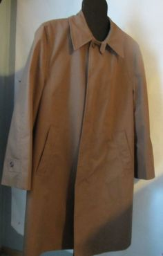 Vintage Campus All Weather Coat,full zipper lining sz 40 Water Repellent Brown #VINTAGE#CAMPUS#ALLWEATHER