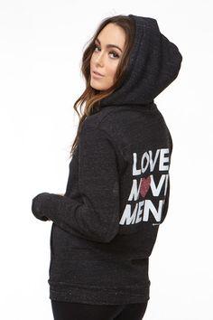 LOVE MOVEMENT WOMENS HOODIE BLACK | Spiritual Gangster $80