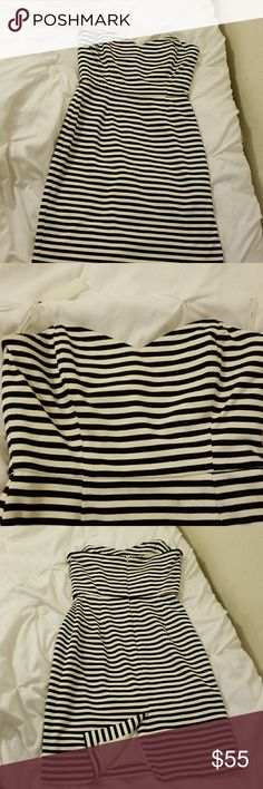Corey Lynn Calter Striped Dress Gently used dress, signs of pre-piling but hard to tell. Anthropologie Dresses Strapless