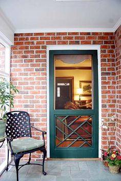Chippendale screen door at screentight.com