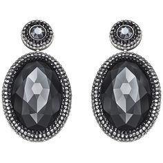 Swarovski Vita Earrings (4.810 RUB) ❤ liked on Polyvore featuring jewelry, earrings, jet hematite, swarovski earrings, swarovski jewelry, pave jewelry, oval earrings and swarovski crystal jewelry