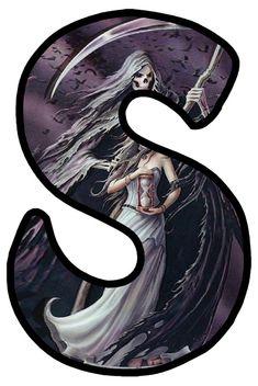 Human Skeleton, Gothic Art, Gothic Fashion, Alphabet, Moon, Fantasy, Halloween, Pictures, Decor