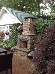 Patio Fireplace, Stone, Small Outdoor Fireplace Innovative Fire & Light Brick, NJ