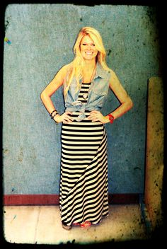 Stand out with a stylish Faded Glory Maxi dress. This look and more can be found at your local #Walmart.