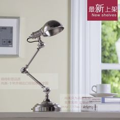 99.00$  Buy here - http://ali30h.worldwells.pw/go.php?t=32562749518 - American study Desk lamp of bedroom the head of a bed European style living room HH creative fashion retro robot reading lamp 99.00$